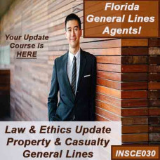 Florida - 5hr LAW & ETHICS UPDATE - PROPERTY AND CASUALTY (5-220) (Donovan) (INSCE030FL8b)